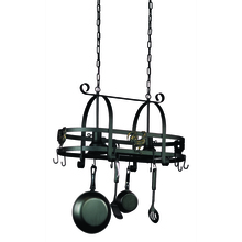 Artcraft AC1798SPEB - Pot Racks 2 Light Special Black Pot Rack