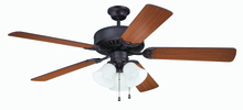 "Craftmade K11204 - 52"" Ceiling Fan with Light Kit and Blades Included"