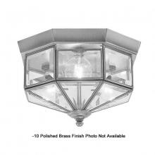 International 5224-10 - Three Light Brass Cage Flush Mount