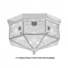 International 5324-11 - Four Light Brass Cage Flush Mount