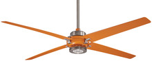 "Minka-Aire F726-BN/ORG - Spectre 60"" - Brushed Nickel/Orange"