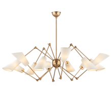 Hudson Valley 5312-AGB - 12 Light Chandelier