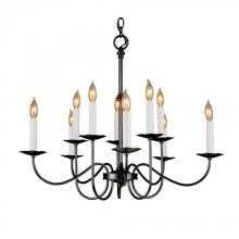 Hubbardton Forge 102100-SKT-20 - Simple Lines 10 Arm Chandelier