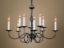 Hubbardton Forge 108100-SKT-08 - Twist Basket 10 Arm Chandelier