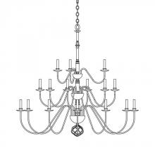 Hubbardton Forge 191548-SKT-07 - Ball Basket 21 Arm Chandelier