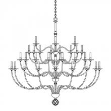 Hubbardton Forge 191560-SKT-07 - Ball Basket 36 Arm Chandelier
