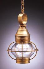 Northeast Lantern 2512-AC-MED-CLR - Caged Onion Hanging Antique Copper Medium Base Socket Clear Glass