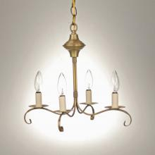 Northeast Lantern 984-AB-LT4 - Hanging S-Arms With Curl Antique Brass 4 Candelabra Sockets