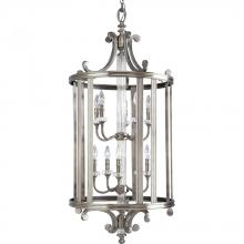 Progress P2816-101 - Ten Light Classic Silver Open Frame Foyer Hall Fixture