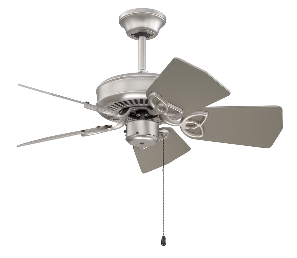 "Greenvale Electric Supply in Greenvale, New York, United States, Craftmade T6FW, Piccolo 30"" Ceiling Fan Kit in Brushed Satin Nickel, Piccolo"