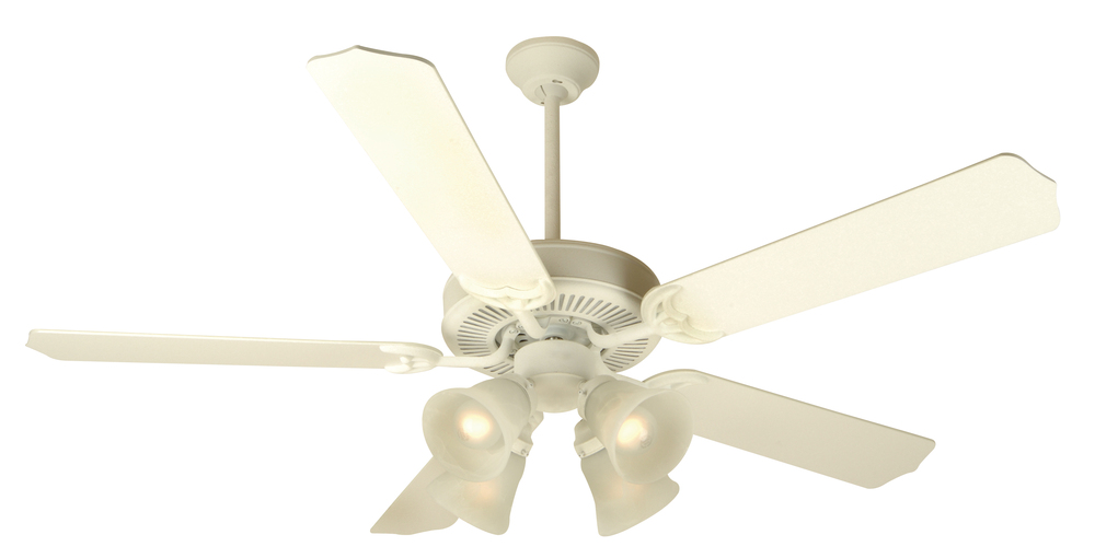 "Greenvale Electric Supply in Greenvale, New York, United States,  P4VW, Pro Builder 203 52"" Ceiling Fan Kit with Light Kit in Antique White, Pro Builder 203"