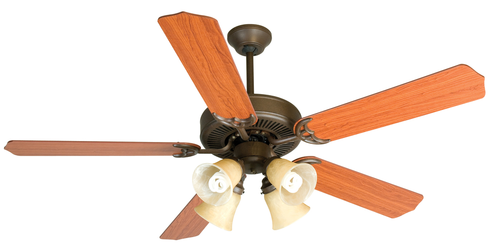 "Greenvale Electric Supply in Greenvale, New York, United States,  P4W0, Pro Builder 204 52"" Ceiling Fan Kit with Light Kit in Aged Bronze Textured, Pro Builder 204"