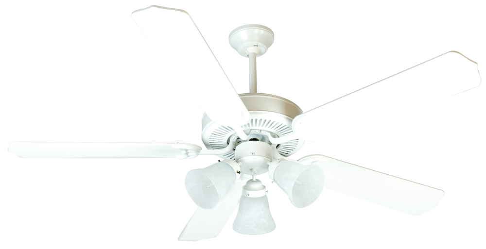 "Greenvale Electric Supply in Greenvale, New York, United States, Craftmade P4W3, Pro Builder 205 52"" Ceiling Fan Kit with Light Kit in White, Pro Builder 205"