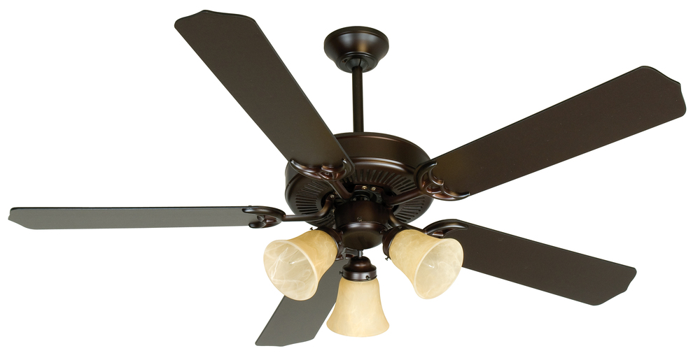 "Greenvale Electric Supply in Greenvale, New York, United States, Craftmade P4W6, Pro Builder 206 52"" Ceiling Fan Kit with Light Kit in Oiled Bronze, Pro Builder 206"