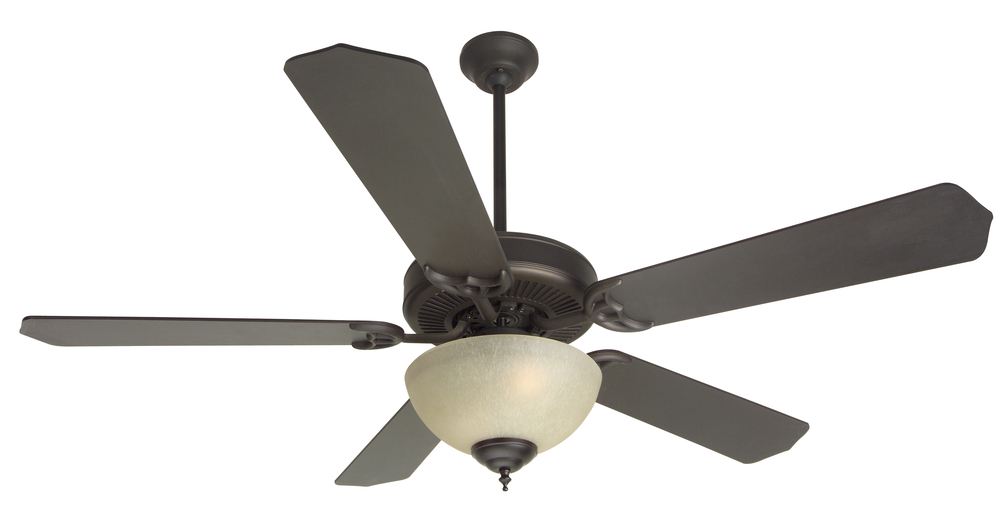 "Greenvale Electric Supply in Greenvale, New York, United States, Craftmade P4WE, Pro Builder 208 52"" Ceiling Fan Kit with Light Kit in Oiled Bronze, Pro Builder 208"