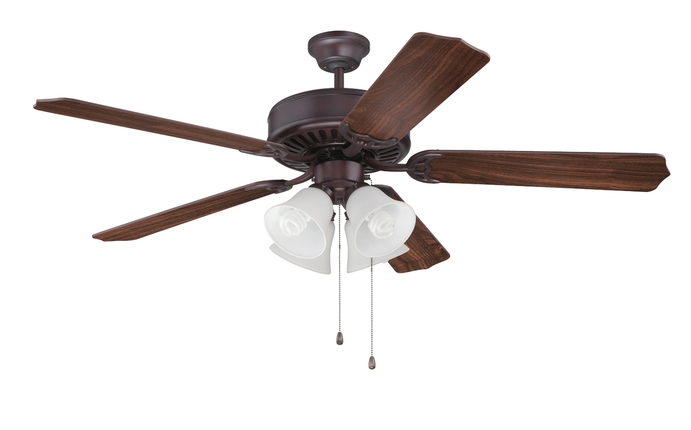"Greenvale Electric Supply in Greenvale, New York, United States, Craftmade T6JD, Pro Builder 203 52"" Ceiling Fan Kit with Light Kit in Oiled Bronze, Pro Builder 203"