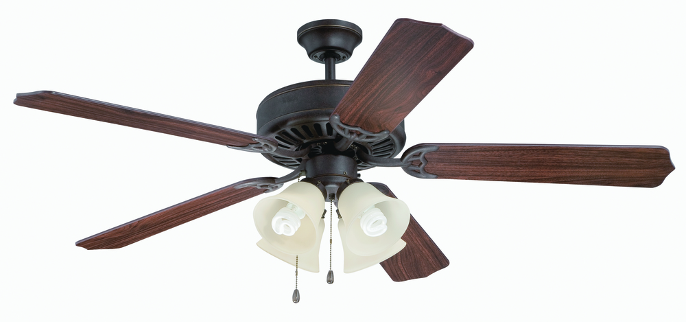 "Greenvale Electric Supply in Greenvale, New York, United States, Craftmade T6JN, Pro Builder 204 52"" Ceiling Fan Kit with Light Kit in Aged Bronze Textured, Pro Builder 204"