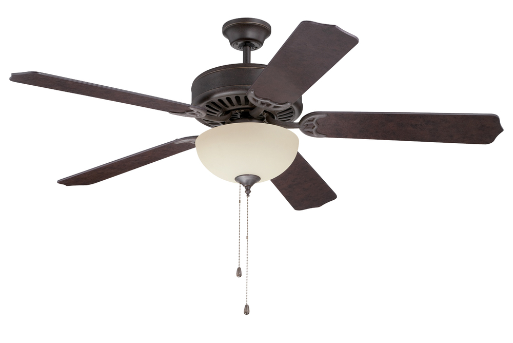"Greenvale Electric Supply in Greenvale, New York, United States, Craftmade T7F7, Pro Builder 208 52"" Ceiling Fan Kit with Light Kit in Aged Bronze Textured, Pro Builder 208"