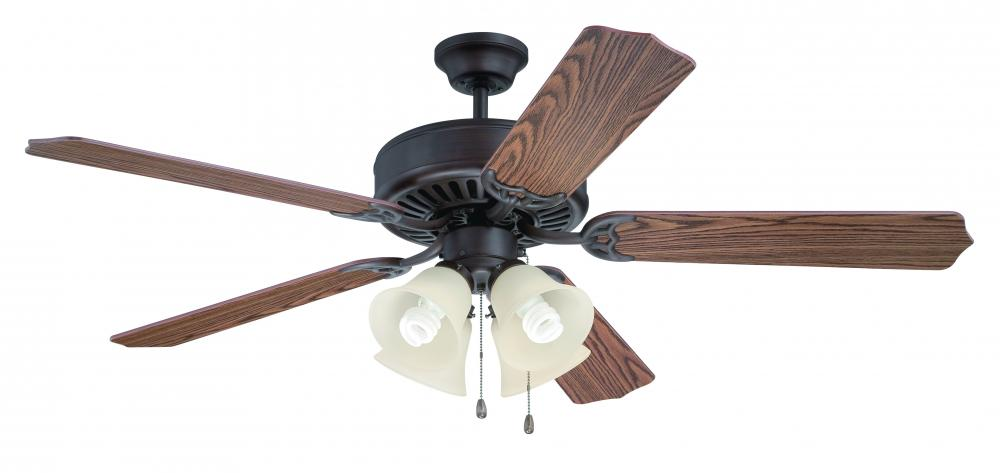 "Greenvale Electric Supply in Greenvale, New York, United States, Craftmade W39T, Pro Builder 204 52"" Ceiling Fan Kit with Light Kit in Aged Bronze Brushed, Pro Builder 204"
