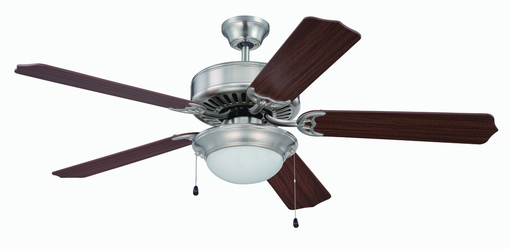 "Greenvale Electric Supply in Greenvale, New York, United States,  W39X, Pro Builder 209 52"" Ceiling Fan Kit with Light Kit in Brushed Polished Nickel, Pro Builder 209"