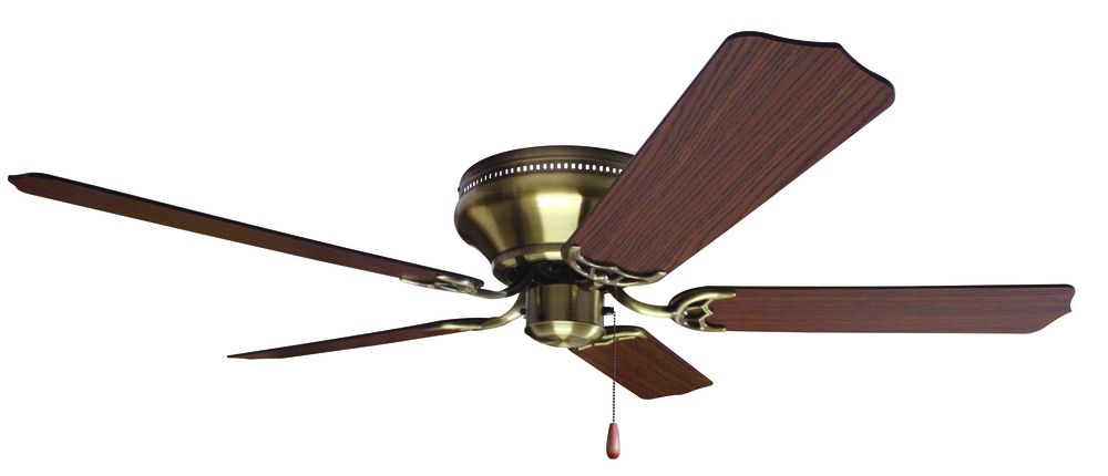 "Greenvale Electric Supply in Greenvale, New York, United States, Craftmade W46W, Pro Contemporary Flushmount 52"" Ceiling Fan Kit in Antique Brass, Pro Contemporary Flushmount"