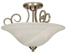 Craftmade 7118BN3SF - Cecilia 3 Light Semi Flush in Brushed Satin Nickel