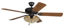 "Craftmade BLD52ABZ5C3 - Builder Deluxe with 3-light Kit 52"" Ceiling Fan with Blades and Light in Aged Bronze Brushed"