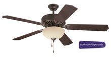 "Craftmade E202AG - Pro Builder 202 52"" Ceiling Fan with Light in Aged Bronze Textured (Blades Sold Separately)"