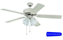 "Craftmade E203AW - Pro Builder 203 52"" Ceiling Fan with Light in Antique White (Blades Sold Separately)"