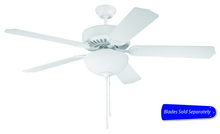 "Craftmade C207W - Pro Builder 207 52"" Ceiling Fan with Light in White (Blades Sold Separately)"