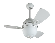 "Craftmade DA30W3 - Dane 30"" Ceiling Fan with Blades and Light in White"