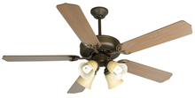 "Craftmade K10633 - Pro Builder 204 52"" Ceiling Fan Kit with Light Kit in Aged Bronze Textured"