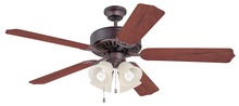 "Craftmade K11090 - Pro Builder 204 52"" Ceiling Fan Kit with Light Kit and Blades Included in Oiled Bronze"