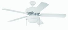 "Craftmade K11130 - Pro Builder 209 52"" Ceiling Fan Kit with Light Kit in White"