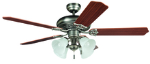 "Craftmade MAN52AN5C4 - Manor with 4-light Kit 52"" Ceiling Fan with Blades and Light in Antique Nickel"