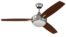 "Craftmade TG52BNK3 - Targas 52"" Ceiling Fan with Blades and LED Light Kit in Brushed Polished Nickel"