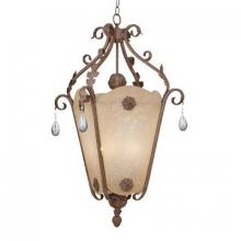 Designers Fountain ES9147-AO - Two Light Ancient Oak Open Frame Foyer Hall Fixture