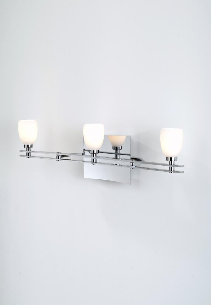 Greenvale Electric Supply in Greenvale, New York, United States, Holtkoetter 2EX1M, Three Light Chrome Vanity, Ludwig