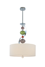 Troy F2386PC - Three Light Polished Chrome Drum Shade Pendant