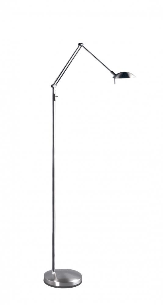 Greenvale Electric Supply in Greenvale, New York, United States, Estiluz 4X7TV, Nickel Floor Lamp,