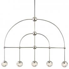 Hudson Valley 1225-PN - 5 Light LED Island