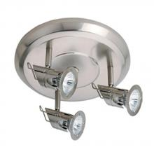 Jesco HT3127-ST - 3-Light Line Voltage Fixture - Die Cast with Glass , With 50W Built-in Electronic Transformer(s)