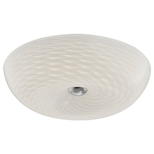 "Dainolite CFLED-1516-SC - LED Flush-mount Fixture, 16"" Mackerel Glass"