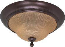 Nuvo 60/2406 - Moulan ES - 2 Light Flush Mount  w/ Champagne Linen Glass - (Lamp Included)