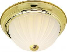 "Nuvo 60/442 - 3 Light Cfl - 15"" - Flush Mount - Frosted Melon Glass - (3) 13W GU24 Lamps Included"