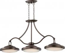Nuvo 62/174 - Sawyer - (3) LED Island Pendant w/ Frosted Glass