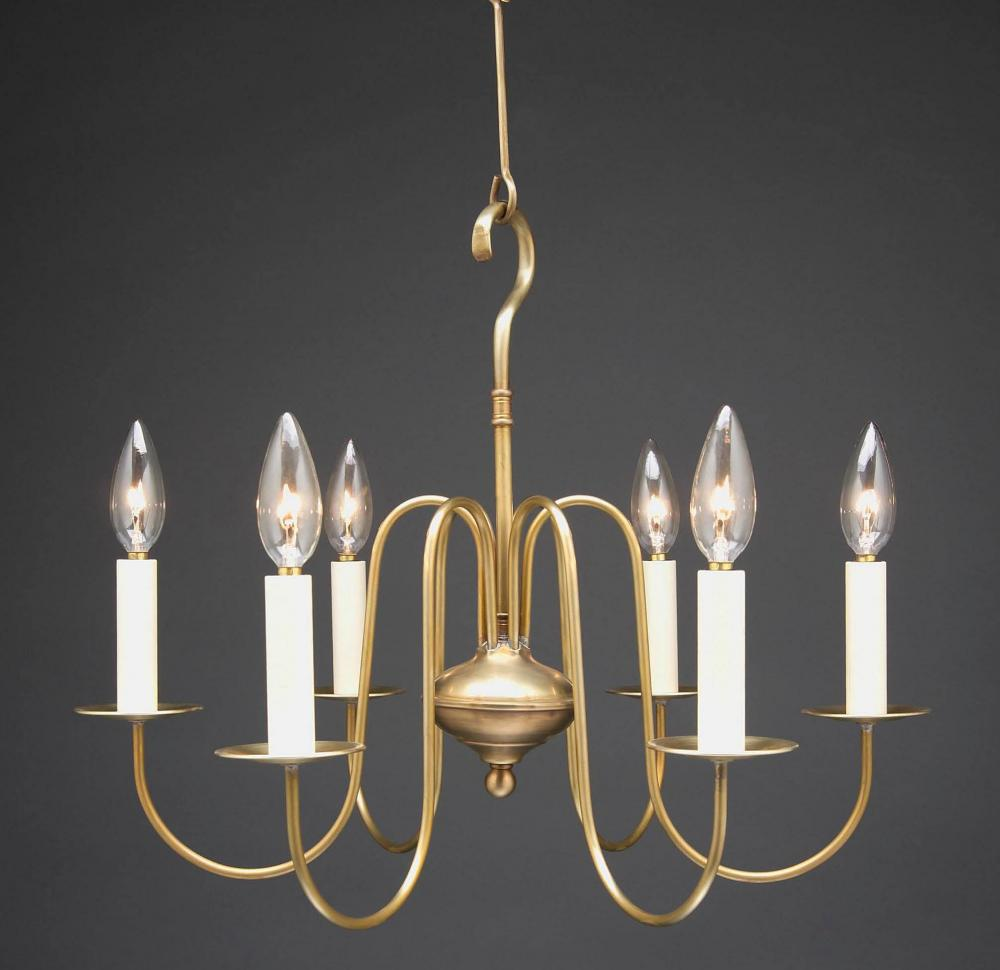 Greenvale Electric Supply in Greenvale, New York, United States, Northeast Lantern K2JK7, Hanging S-Arms Antique Brass 8 Candelabra Sockets, Chandelier