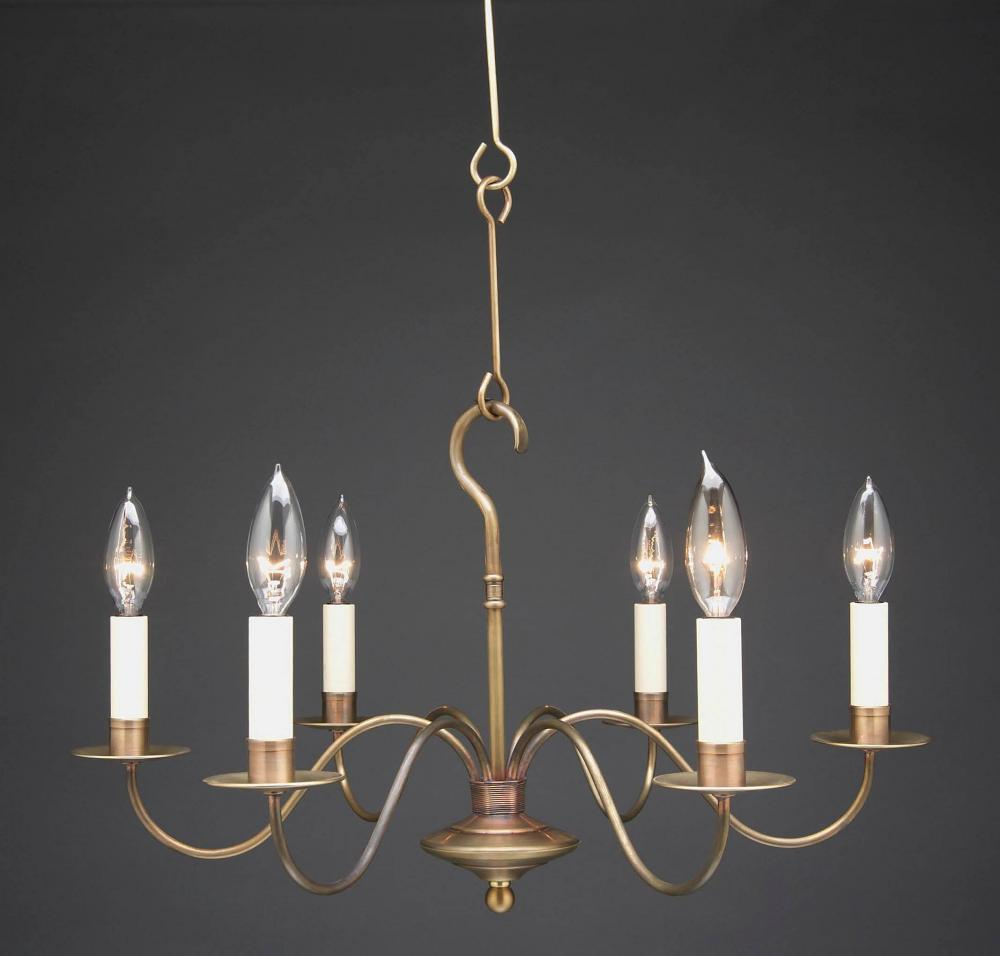 Greenvale Electric Supply in Greenvale, New York, United States, Northeast Lantern K2JKD, Hanging S-Arms Antique Brass 8 Candelabra Sockets, Chandelier