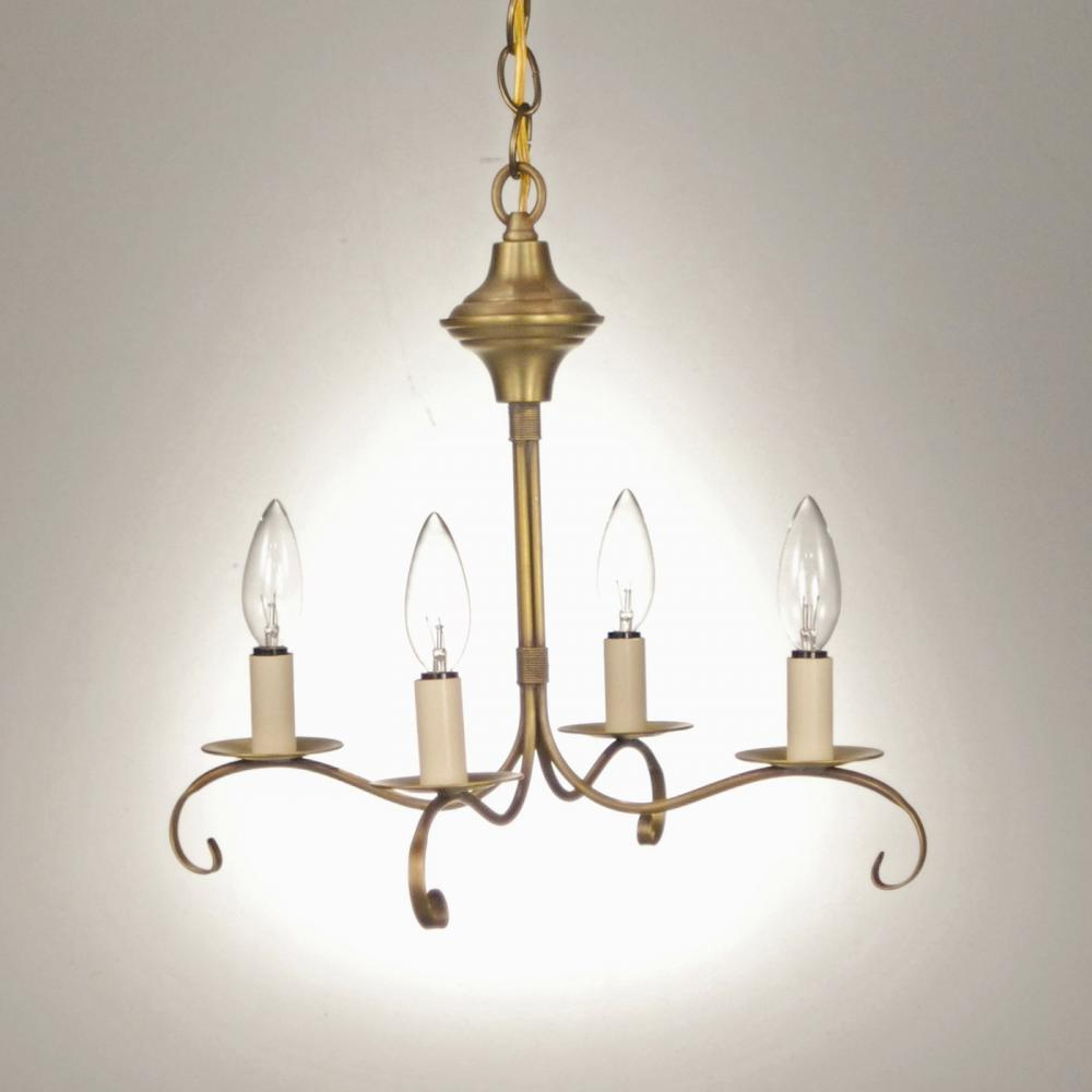Greenvale Electric Supply in Greenvale, New York, United States, Northeast Lantern UR5AT, Hanging S-Arms With Curl Antique Brass 4 Candelabra Sockets, Chandelier