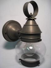 Northeast Lantern 2015-AB-MED-CLR - Onion Wall No Cage Antique Brass Medium Base Socket Clear Glass